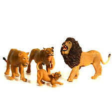 Simulated Wild Animals Model Realistic Lions Family Action Figure Kids' Toy