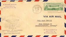 USA. 1933 ZEPPELIN, DA CHICAGO A FILADELFIA VIA FRIEDRICHSHAFEN