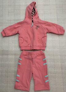 NWT Rabbit Moon Baby Girls Savanna Pink Jacket Top & Pants Set Size  0-3 Months