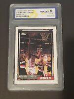 """1992 Topps Blank Back Michael Jordan Rare """"Error"""" WCG 10 Gem Mint!!! PSA ?"""