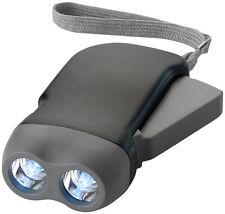 Torcia eco 2 led ricaricabile a mano portatile dinamo campeggio lampada auto