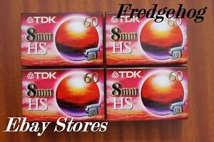 4 x TOP QUALITY TDK P5-60 HS 8mm/ Video 8 / Hi8 VIDEO CAMCORDER TAPES/ CASSETTES
