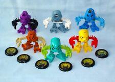 2001 McDonalds Lego Bionicle TOHUNGA - Toa Matoran Set with all 6 Discs 100%