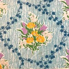 BEAUTIFUL VINTAGE FRENCH COTTON c1980s, FLOWERS, REF PROJECTS 332