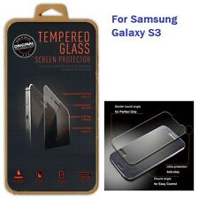0.3MM GENUINE TEMPERED GLASS Screen Protector Guard Case for Samsung Galaxy S3