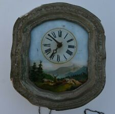 Pendule foret noire (horloge antique black Forest clock  )