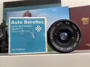 Auto Beroflex WW 1:2.8/35mm 35 mm F2.8 2 8 M42 M 42 Lens Objektiv Wide Praktica