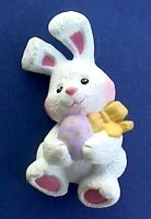 Hallmark PIN Easter Vintage BUNNY RABBIT  EGG WHITE Purple Holiday Brooch