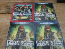 4 x pirates of the caribbean on stranger tides blu-ray dvds  unused sealed cases