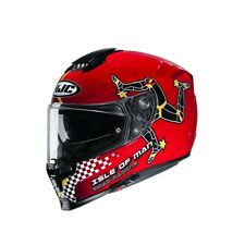 Casque de Moto HJC Arsp 70 Isle Of Man Couleur: Noir/Rouge