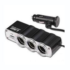 MULTIPRESA ACCENDISIGARI USB PRESA TRIPLA PROLUNGA DA AUTO CAMPER MOLTIPLICATORE