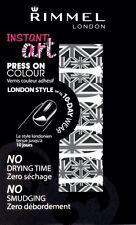 Choose a Type Rimmel Instant Nail Art Press on Colour Self Adhesive 10 Day Wear 002 Union Jack - Black & Grey