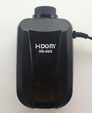 Aquarium Air Pump for Fish tank with Adjustable Dual Valve Outlet HD-603