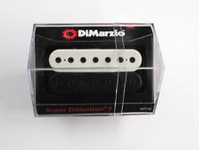 DiMarzio Super Distortion 7 String Bridge Black/White W/Black Poles DP 712