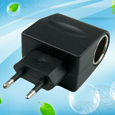 EU Plug AC To DC Car Cigarette Lighter Socket Power Adapter Converter Practical