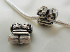 Silver Hugging Girls Twins Best Friends Sisters Charm Bead Cute Uk Gift Idea