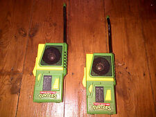 Molto RARA COPPIA DI TEENAGE MUTANT HERO TURTLES Walkie Talkie 1988 Mirage STUDIOS