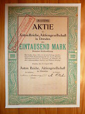 D: Anton Reiche AG, Dresden, 1923, 1000 Mark, SCHOKOLADENFORMEN *