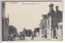 CPA  CORMONTREUIL 51 -  CENTRE VILLE ATTELAGE ET HABITANTS VERS 1918  ~C94