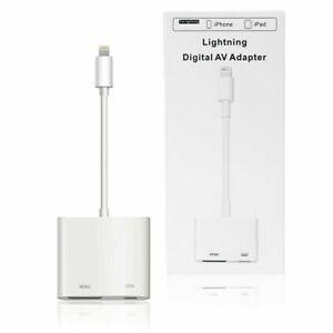 Lightning to Digital AV TV HDMI Adapter 4K Smart TV Cable For Latest iOS iPhones