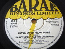 "JOHNNY GREEN AND THE GREENMEN - SEVEN OVER FROM MARS  7"" VINYL"