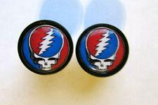 Grateful Dead handlebar bike caps, Grateful Dead logo end plugs, Dead head caps