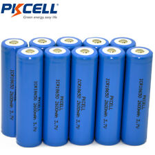 10X 18650 Li-ion Rechargeable Batteries 2600mAh 3.7V Button Top for Flashlights