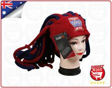 A-League Newcastle Jets Dreadlock Fun Hat Cap Beanie Official Merchandise