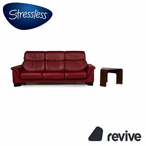 Stressless Paradise Leather Sofa Incl. Table Three-Seater Relaxfunktion