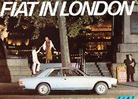 1973 Fiat 16-page UK Original Car Sales Brochure Catalog 128 124 Sport 130 Coupe