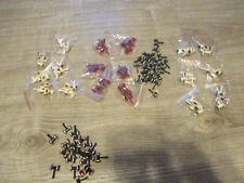 LOT OF 120 BANJO MINNOWS ASSORTED EYES 7/16 METAL AND PLASTIC .