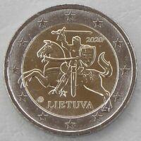 2 Euro Kursmünze Litauen 2020 unz