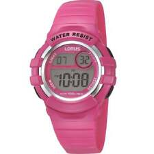 Lorus Digital Chronograph Pink Strap Children / Girls Watch R2387HX9