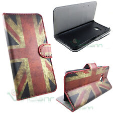 Custodia booklet BANDIERA inglese per HTC One M9 cover case STAND portafoglio