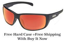 Suncloud Milestone Sunglasses - Graphite w/ Red Mirror Polar - Free Hard Case