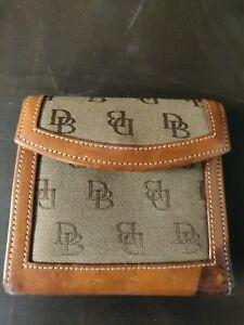Dooney & Bourke Brown/Tan Signature Wallet.