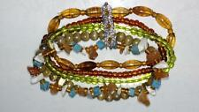 Super Cool Multi Strand & Material Beaded Bracelet, goes with everything