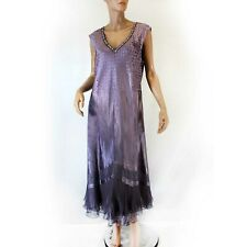 96bf82bf67 Komarov Woman Nordstrom Plus Pleated Beaded Purple Gown Dress 3X