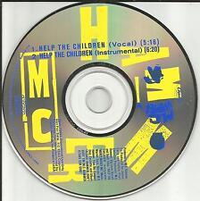 MC HAMMER Help the Children w/ VOCAL & RARE INSTRUMENTAL PROMO DJ CD single m.c.