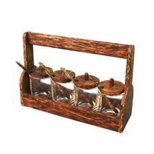 Wood Seasoning rack for spices herbs salt & pepper Jam and marmalade holder