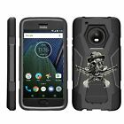 For Motorola Moto G5 Plus / Moto X (2017) Dual Layer Hybrid Stand Fitted Case