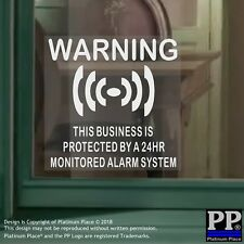 6 x Business Protected Alarm System-Internal Stickers-Premises,Security,Shop