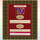 AUCTION TEMPLATE Textile Border Frame Design Red Background - FREE SHIPPING