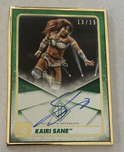 2020 Topps Transcendent KAIRI SANE Gold Framed On Card AUTO Green 13/15