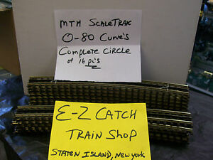 MTH # 45-1034 Scale Trax Solid Nickel Rail O-80 Curves Complete Circle Brand New