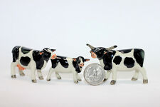 Cow Family Miniature Ceramic Animals Figurine,Collectibles,terrarium farm
