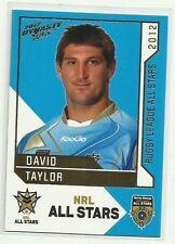 2012 NRL SELECT DYNASTY RABBITOHS DAVID TAYLOR NRL ALL STARS AS34 CARD