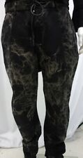 KmRii Layered Denim Black & Khaki Loose Fit Jeans