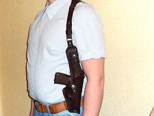 Shoulder gun holster Ruger lc9, Taurus PT709, Makarov  genuine leather mod.100