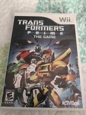 Transformers Prime The Game Wii Game With Manual
